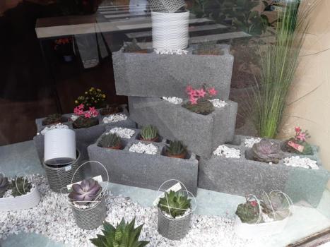 devanture boutique de fleurs