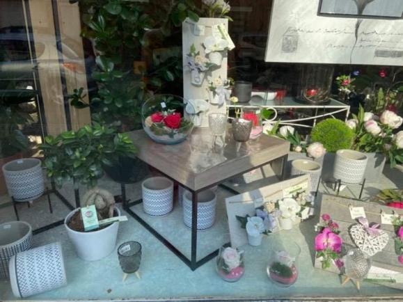 Vitrine boutique de fleurs